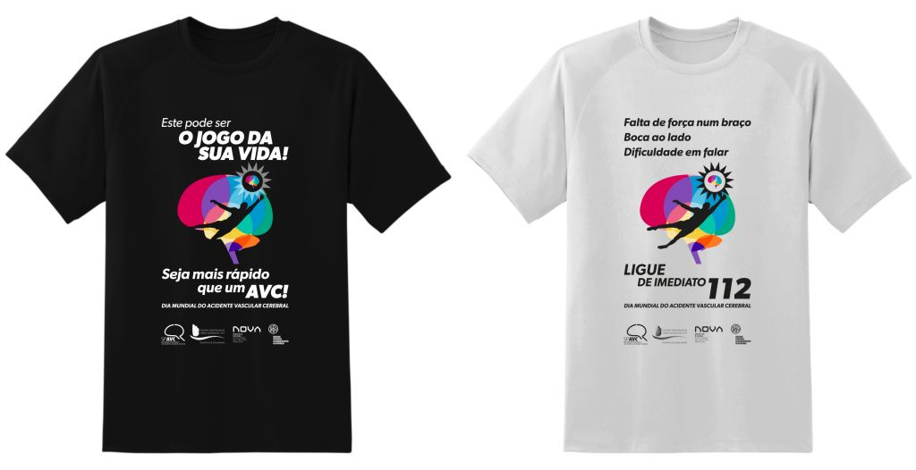 T-shirts Dia Mundial do AVC